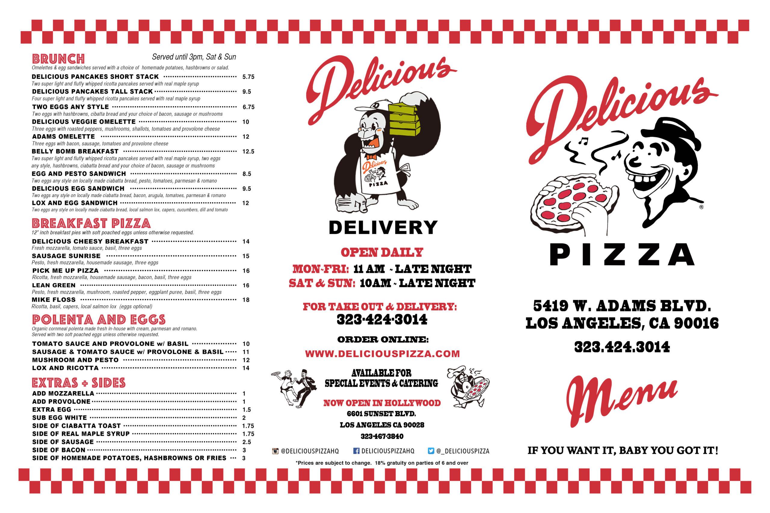 Delicious Pizza West Adams