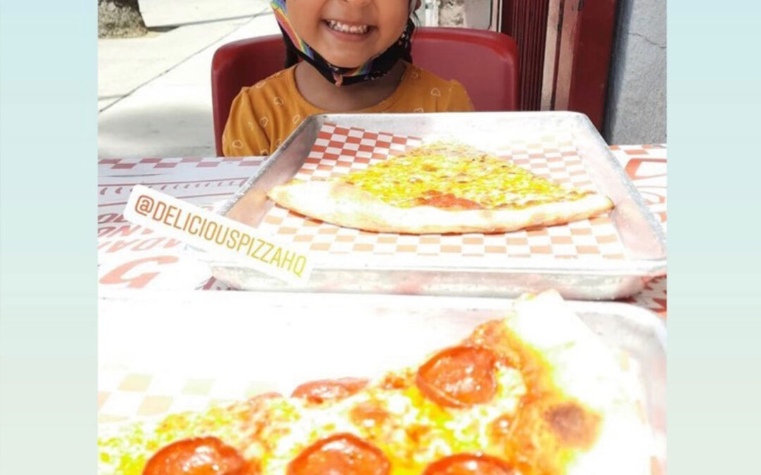 We love seeing smiling faces back at the pizza shops.